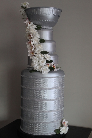 Life-Sized Stanley Cup Wedding Cake